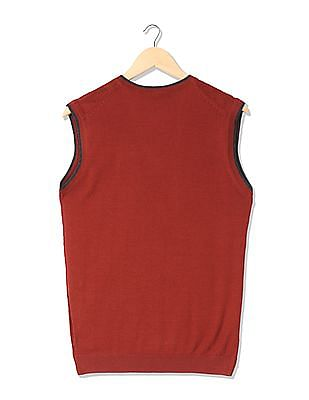 Arrow Newyork Merino Wool Sleeveless Sweater