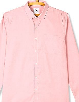 Excalibur Red Mitered Cuff Solid Shirt