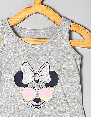 GAP Grey Toddler Girl Minnie Mouse Tank Top