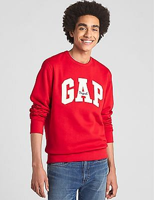 GAP Long Sleeve Crew Neck Sweatshirt