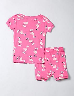 GAP Baby Skater Flamingo Short Sleep Set