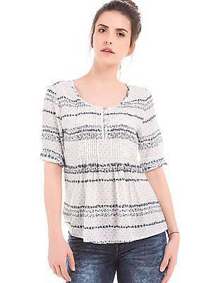 Elle Tucked Front Printed Top