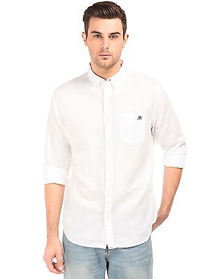 Aeropostale Button Down Cotton Linen Shirt