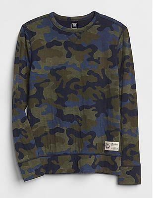 GAP Boys Camo Print Crewneck T-Shirt