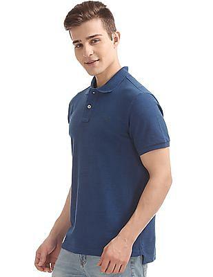 Aeropostale Heathered Pique Polo Shirt