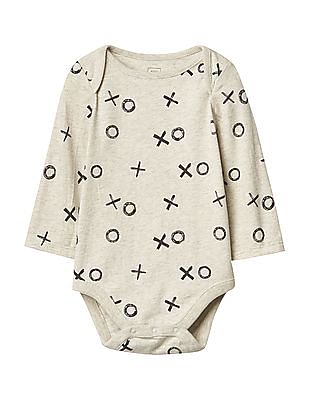 GAP Baby Printed Long Sleeve Bodysuit