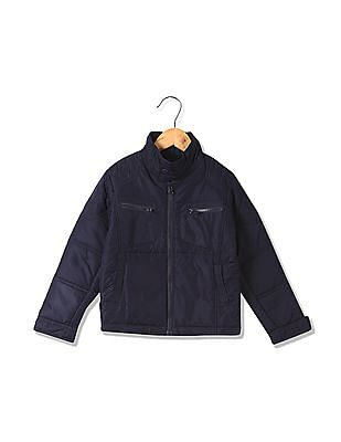 FM Boys Boys Standard Fit Padded Quilted Jacket