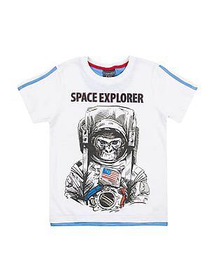 Cherokee Boys Graphic Print Slubbed T-Shirt