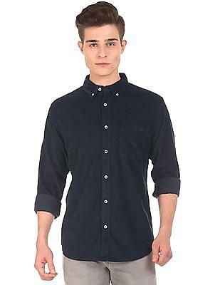 Aeropostale Button Down Collar Corduroy Shirt