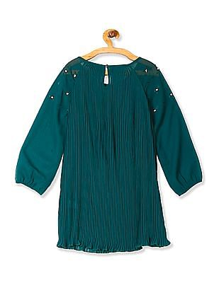 Cherokee Girls Long Sleeve Pleated Tunic