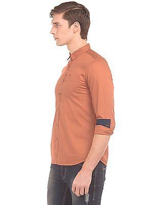 Flying Machine Printed Slim Fit Shirt