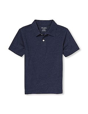 The Children's Place Boys Short Sleeve Snow Jersey Polo