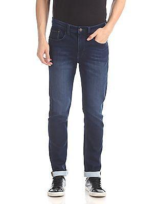 Arvind Slim Fit Dark Wash Jeans