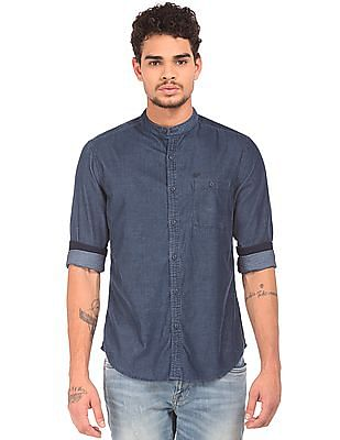 Ed Hardy Mandarin Collar Corduroy Shirt