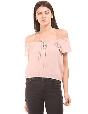 Aeropostale Off Shoulder Crop Top