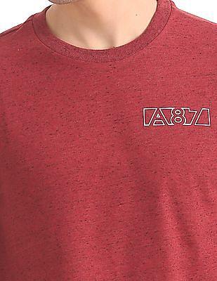 Aeropostale Heathered Crew Neck T-Shirt