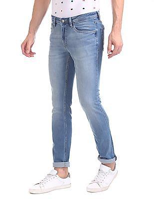 Arrow Sports Skinny Fit Stone Wash Jeans