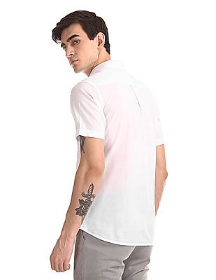 U.S. Polo Assn. Short Sleeve Cotton Tencel Shirt