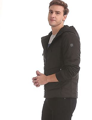 U.S. Polo Assn. Black Hooded Quilted Jacket