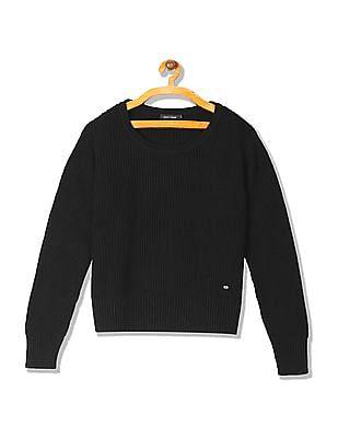 Arrow Woman Regular Fit Ribbed Knit Sweater