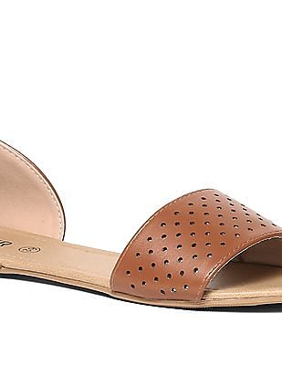 SUGR Open Toe Perforated Sandals