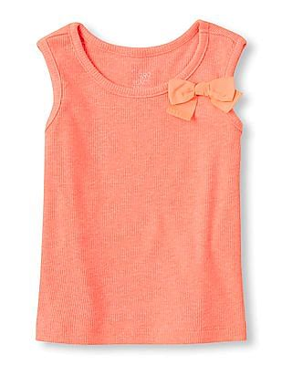 The Children's Place Baby Girls Pink Long Sleeveless Knit Top