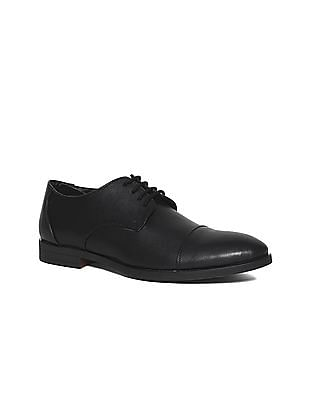 Ruggers Black Cap Toe Derby Shoes