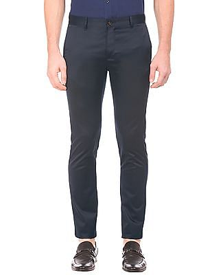 Arrow Sports Mid Rise Slim Fit Trousers