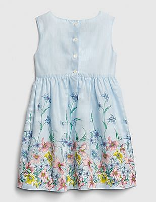 GAP Baby Floral Stripe Fit And Flare Dress