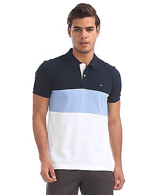 Arrow Sports Regular Fit Colour Blocked Polo Shirt
