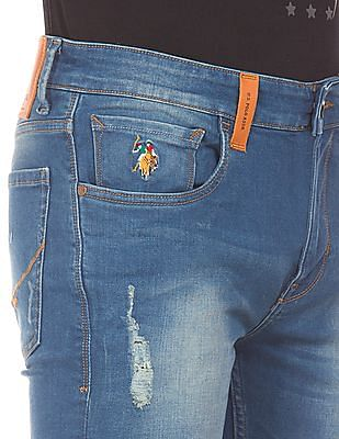 U.S. Polo Assn. Denim Co. Distressed Skinny Jeans