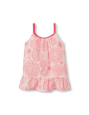 The Children's Place Toddler Girl Sleeveless Medallion Print Woven Top