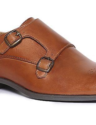 Arrow Burnished Leather Brogue Shoes