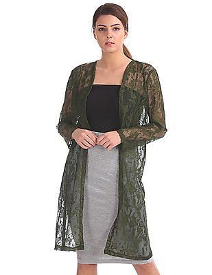Cherokee Longline Lace Shrug