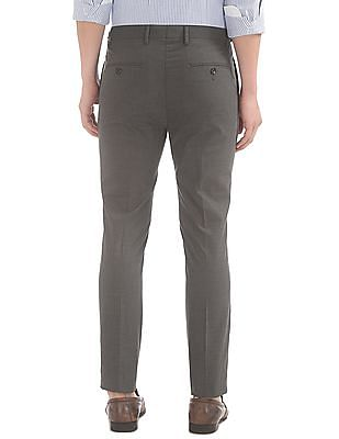 USPA Tailored Check Flat Front Trousers