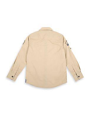 U.S. Polo Assn. Kids Boys Regular Fit Twill Shirt