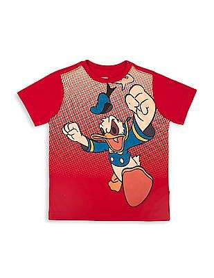 FM Boys Boys Donald Duck Print Regular Fit T-Shirt