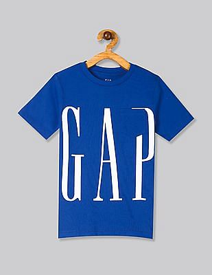 GAP Blue Boys 50th Short Sleeve T-Shirt