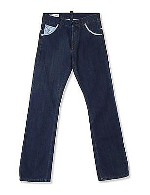 Flying Machine Blue Dark Wash Bootcut Jeans
