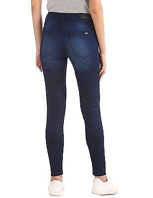 Flying Machine Women Super Skinny Fit Stone Washed Jeans