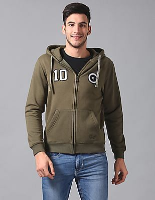 True Blue Slim Fit Zip Up Sweatshirt