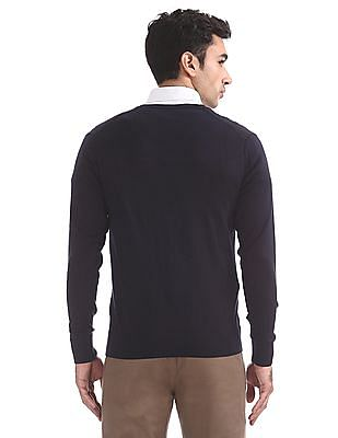 Arrow Solid V-Neck Sweater