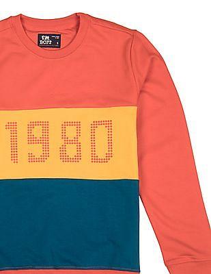 FM Boys Boys Crew Neck Colour Blocked Sweatshirt