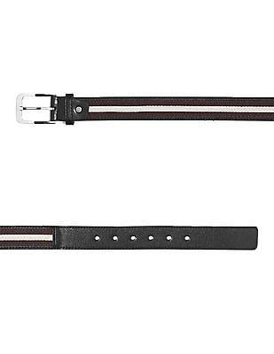 Colt Black Metallic Buckle Canvas Stitch Belt