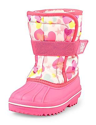 The Children's Place Toddler Girl Heart Print Snow Boot