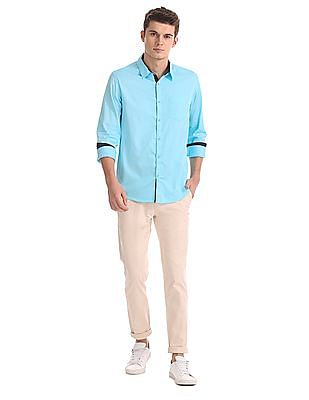 Roots by Ruggers Contemporary Fit Solid Shirt