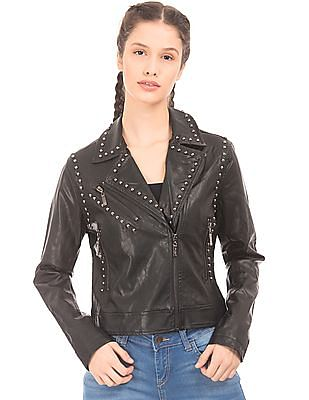 EdHardy Women Studded Biker Jacket