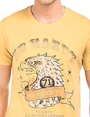 Ed Hardy Printed Front Slim Fit T-Shirt