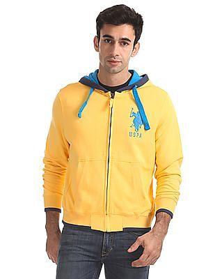 U.S. Polo Assn. Zip Up Hooded Sweatshirt