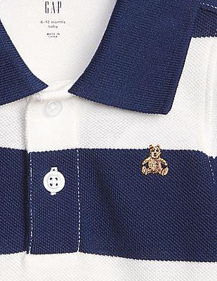GAP Baby Stripe Polo Bodysuit